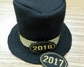 2017 New Year's Hat New Year's Photo Prop 2017 Top Hat New Year's Baby Newborn Photo Prop Black Tophat