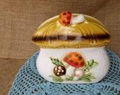 1976 Sears Roebuck Merry Mushroom Napkin Holder - kitcsh farmhouse funky retro Collectible 1970s psychedelic hippie hippy Japan