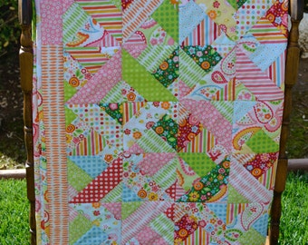 Baby Girl Patch Quilt My Sunshine by Zoe Pearn for Riley Blake