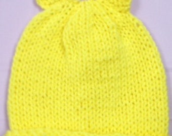 Knitted Baby hat with ears