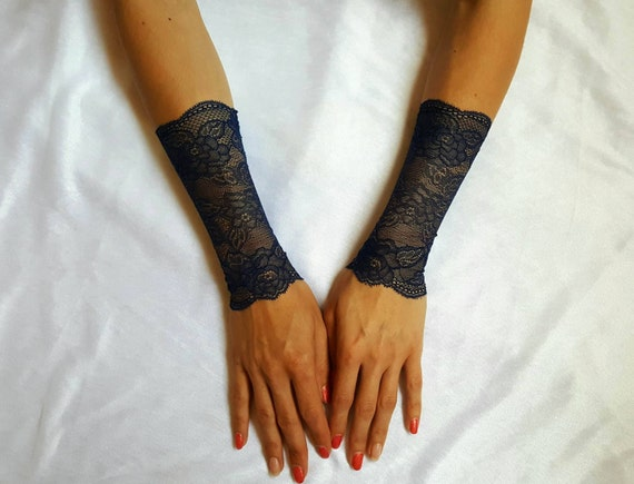 Fingerless lace gloves coachella 2016 goth bracelet by for Lace glove tattoo
