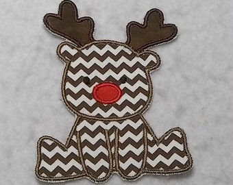 Baby Reindeer (small) Tutu & Shirt Supplies fabric iron on Applique Patch 7319