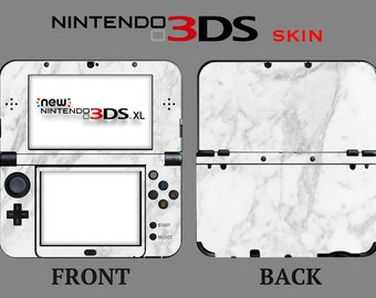 White Marble Skin Marble Skin Nintendo 3DS or 3DS XL 2015 Full Cover Front & Back
