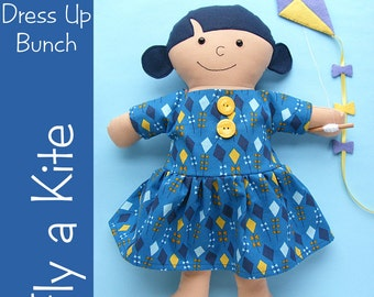 Fly a Kite Doll Dress and Kite Pattern (instant download digital PDF pattern)
