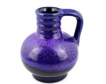 Vintage Mid Century West German Marei Roth Purple Vase