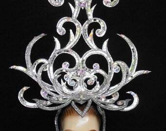 Goddess Drag Cabaret Showgirl Peagent Dance Headdress