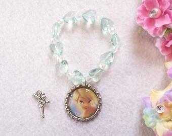 10 Tinkerbell Bracelets Party Favors