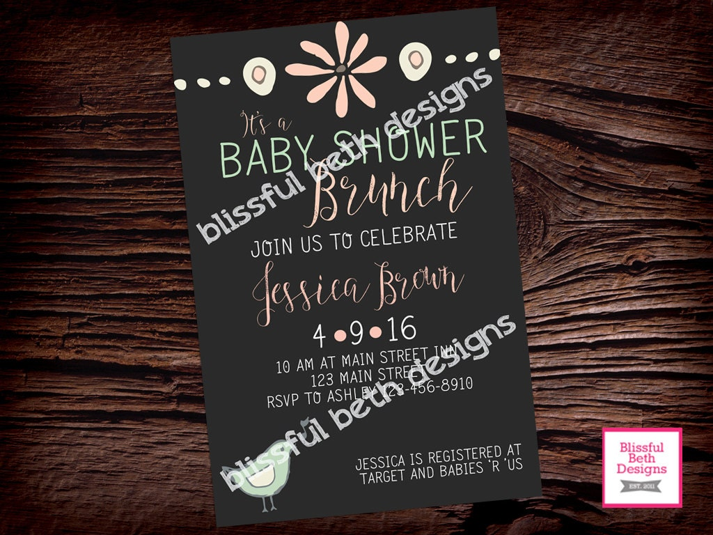 baby shower brunch baby shower brunch invitation brunch