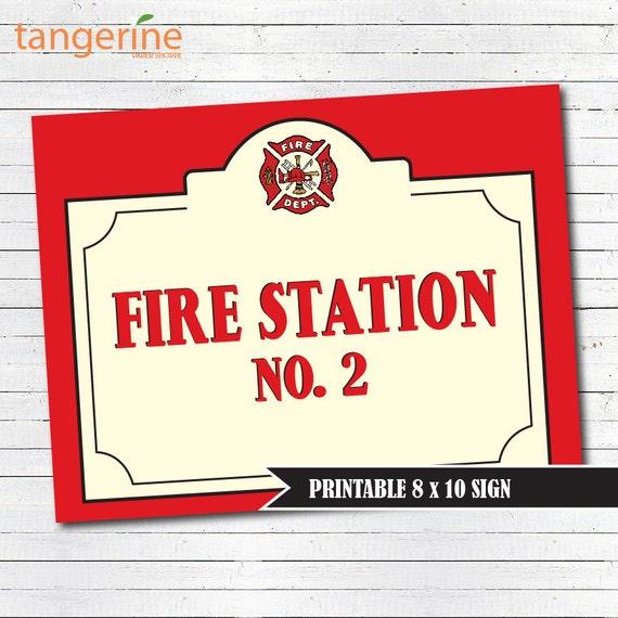 fire truck birthday sign fire station sign firetruck