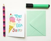 Extra Sprinkles -blank note card