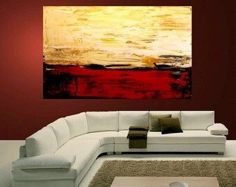 "Sale Super Large size Abstract Original  Oil Mixed Media  Multicolor painting  on  gallery canvas by Nicolette Vaughan Horner  48""x 36"""