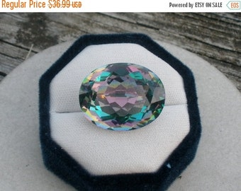 ON SALE Rainbow Mystic Quartz oval gem 70 carats