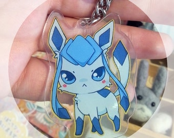 Glaceon eevee Acrylic strap keychain