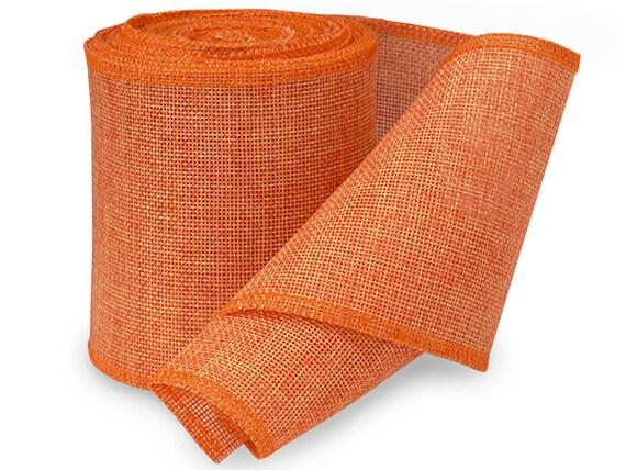 5yds Orange 4 Quot Soft Jute Burlap Fabric Ribbon Free
