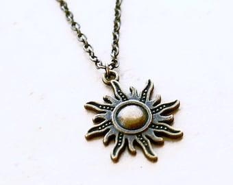 Radiant Sun Necklace - Bohemian Chain Jewelry