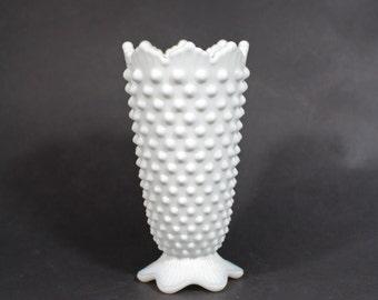 Fenton Milk Glass Hobnail Vase 5 inches  No 3655