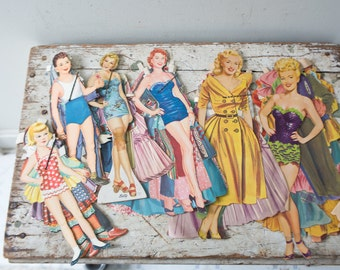 Vintage Paper Doll Lot No. 6 Paper Paper Ephemera Pinup Pin Up Girl