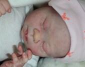 """Reborn Baby Doll """"Caity""""  Custom Order -- Mottled 3D Skin -- Realistic Preemie -- Microrooted Slumberland Hair"""
