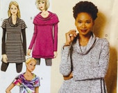 Butterick B6247 Misses' Tunic Pattern, UNCUT, Size Large, X Large, XX Large, Plus Size, Casual, Pullover Tunic, Overlay Variations