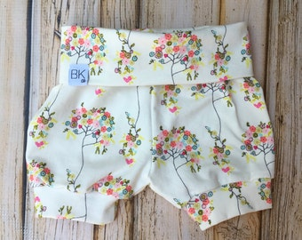 Cuffed Baby shorts- Baby shorties- Bummies- Baby Gift- Baby Shower gift- Gender Neutral Baby- Baby Girl Gift