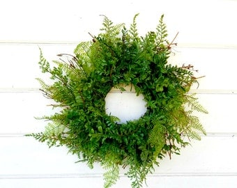 MINI Window Wreath-Mini FERN Wreath-Country Cottage Wreath-Fern Wreaths-Gift for Mom-Wall Hanging-Small Wreath-Scented Wreaths-Gifts