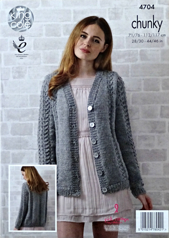 Womens Knitting Pattern K4704 Ladies Long Sleeve V-Neck ...