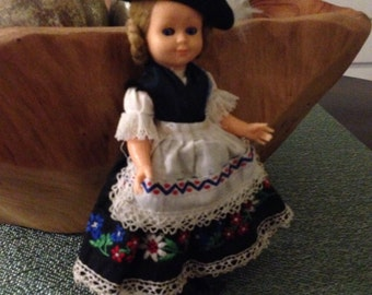 plastic doll with moving eyes and Scandinavian look