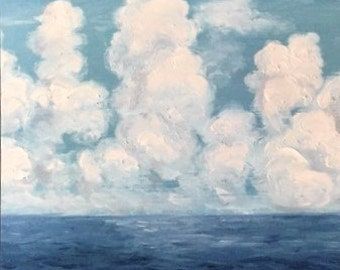 Clouds over Cozumel Postcard Print