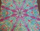 "Psychedelic Tiedye Mandala Tapestry 44"" X ""44"