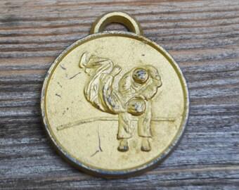 "Vintage metal pendant,medal,badge.""JUDO""."