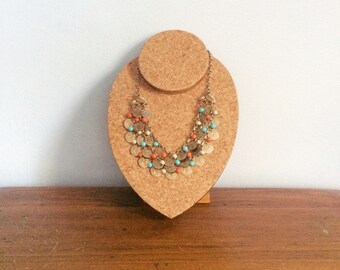 Vintage Boho Tribal Necklace / Egyptian Coin Necklace / Multi Strand Ethnic Necklace / Gypsy Festival Necklace