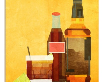 iCanvas Whiskey & Coke Gallery Wrapped Canvas Art Print by 5by5collective