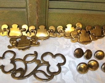 Vintage Brass Drawer Pulls And Knobs