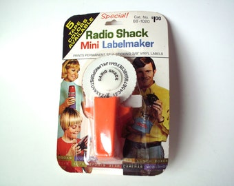 Vintage Radio Shack Mini Labelmaker, Original, Unopened Package, Broken Corner