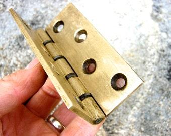 """Art Deco Brass Door Hinge 3.5"""""""