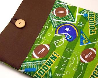 SALE - iPad Air case, iPad cover, iPad sleeve with 2 pockets, PADDED - Football (222)