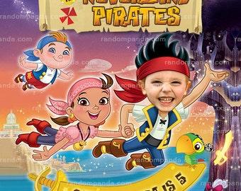 Personalize Jake and the Neverland Pirates Invitation, BE Jake Birthday Invite