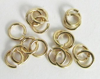 60 Gold-Plated 4mm Open Iron Jump Rings Mt285