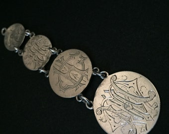 Victorian LOVE TOKENS - Sterling Silver - Liberty Dime - Pendant - SWEETHEART Jewelry