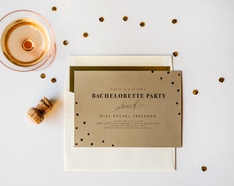 Downtown Deco Party Invitation