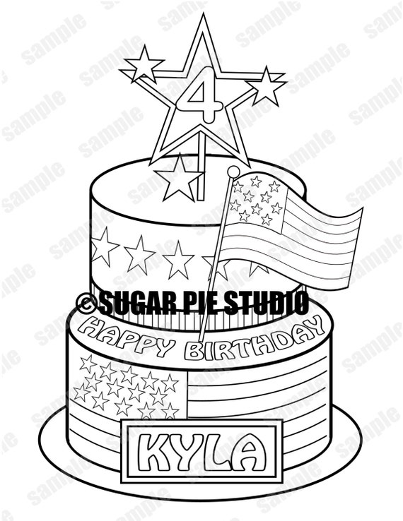 4th Of July Coloring Pages Pdf : Patriotic th of july birthday coloring activity page pdf or