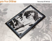 ON SALE Metal Business Card Holder made from Upcycled Michonne Comic Book Artwork, The Walking Dead