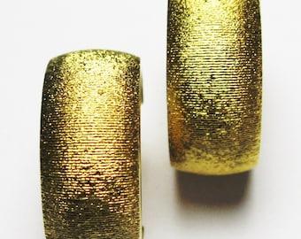 Monet Hoop Earrings - Gold-tone - Vintage Earrings - Clip ons