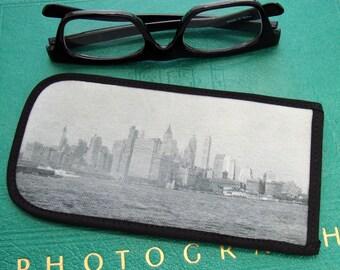 Eyeglass Case with Vintage Photo: New York City Skyline, c. 1940