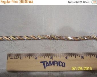CLEARANCE SALE Vintage Tri color Bracelet. Sterling silver.