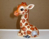 Giraffe, miniature ceramic giraffe, baby giraffe