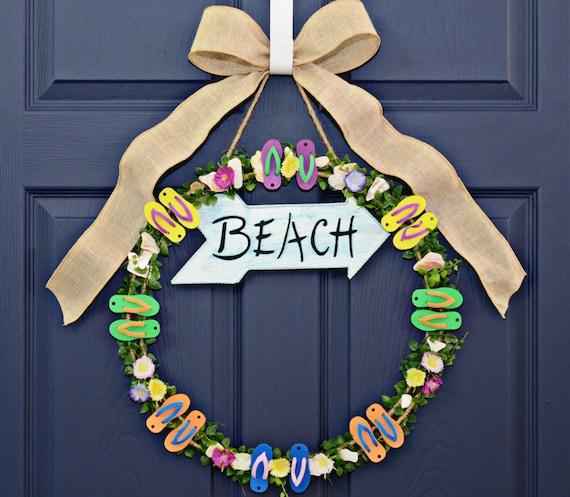 flip flop wreath home decor wreaths by julieshomecreations