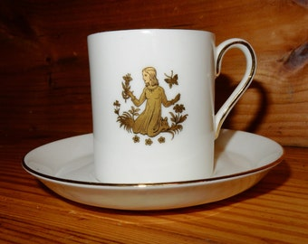 Royal Chelsea Virgo Bone China Cup and Saucer