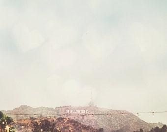 Los Angeles Art, Los Angeles Photography, Hollywood Art, Hollywood Sign, Hollywood Print, Hollywood Tower, Hollywood Photo, California Art