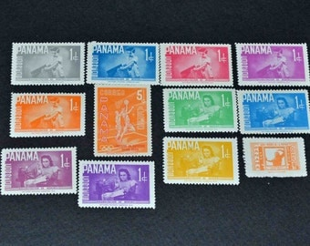 12 Mint Panama stamps